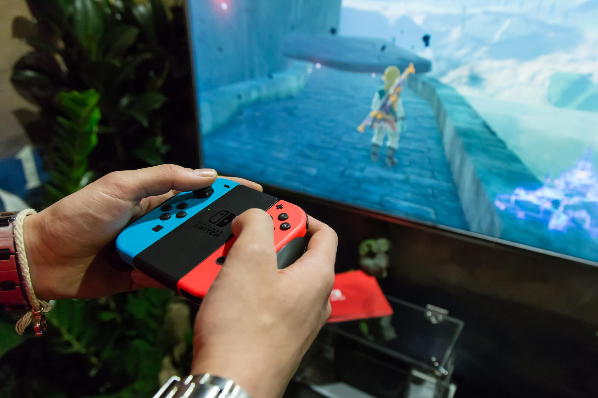 Nintendo Switch spil over TV